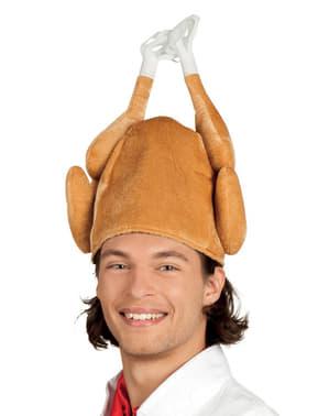 Gevulde kalkoen hoed voor volwassenen