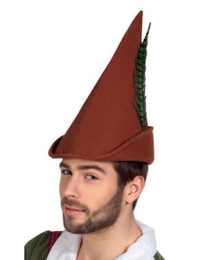 Chapéu castanho de Robin Hood