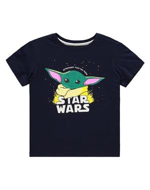 T-shirt Baby Yoda The Mandalorian para meninos - Star Wars