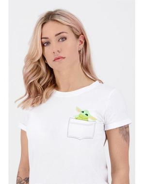 Mandalorian Baby Yoda T -shirt til Kvinder - Star Wars