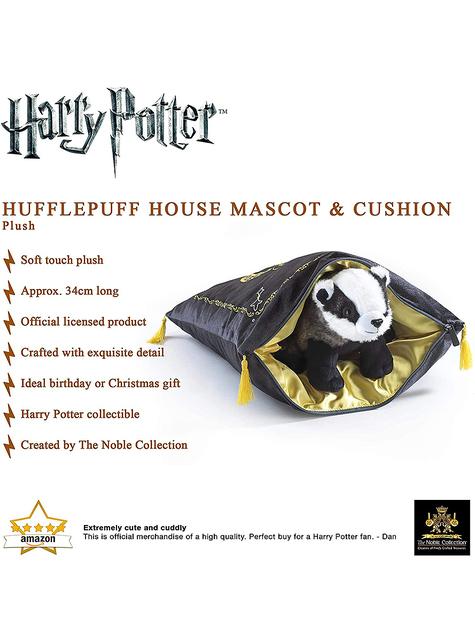 Cojín y peluche de Hufflepuff - Harry Potter