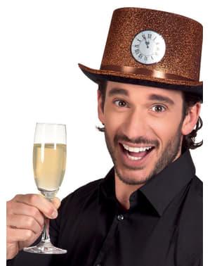 Chapeau horloge minuit adulte