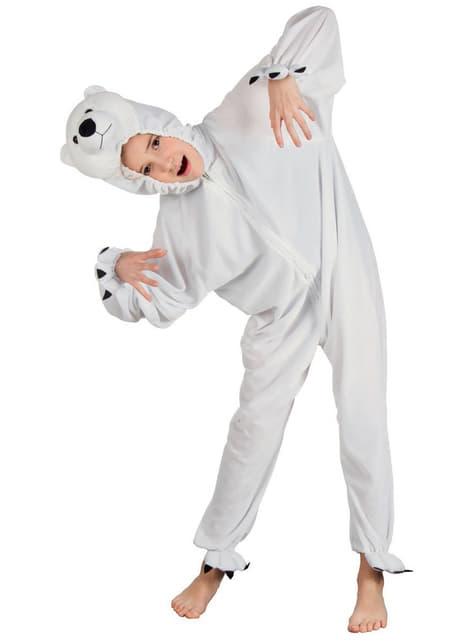 Déguisement ours polaire peluche enfant
