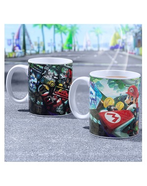 Mario Kart Farveskiftende Krus - Super Mario Bros