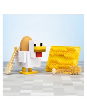 Huhn aus Minecraft Eierbecher und Toastschneider