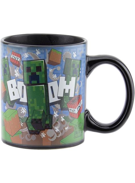 Taza de Creeper cambia color - Minecraft