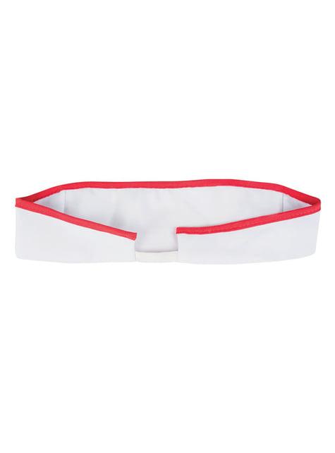 Rød og hvid sygeplejerskehat