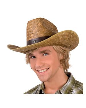 Chapéu de vaqueiro fazendeiro para adulto