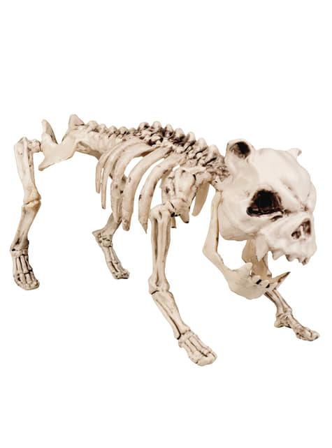 Figura decorativa de esqueleto canino