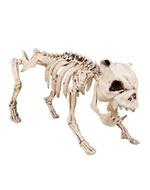 Figura decorativa de esqueleto perruno
