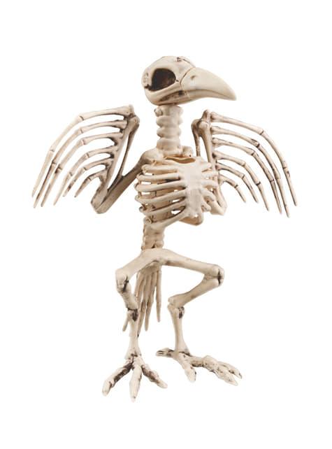 Figura decorativa de esqueleto de cuervo