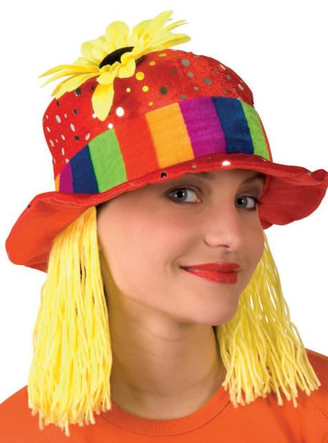 Sombrero de payaso de circo para mujer