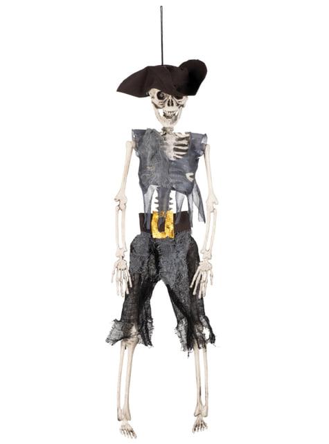 Figura decorativa de pirata en los huesos