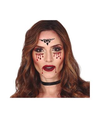 Vampir Gesichtsschmuck zum Aufkleben