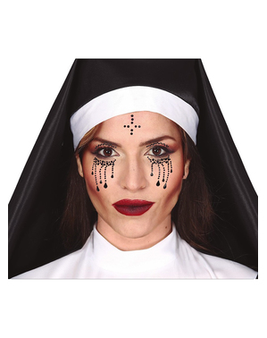 Naklejki na twarz Kryształki Zakonnica