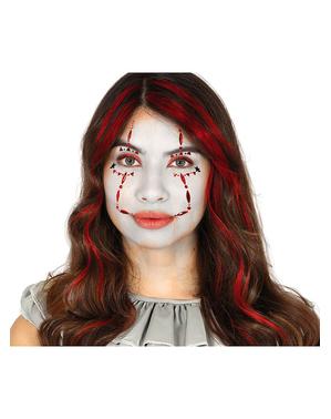 Clown Gesichtsschmuck zum Aufkleben