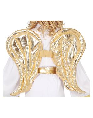 Asas de anjo douradas para mulher