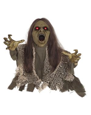 Figura decorativa de Zombie con luz, sonido y movimiento