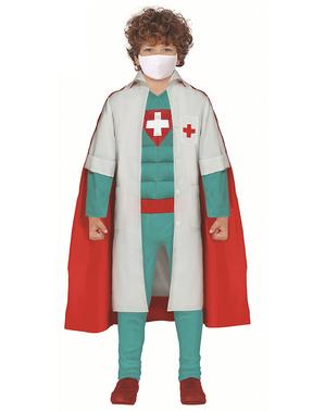Fato de Super Médico Herói para menino