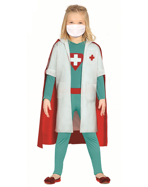 Superheld dokterskostuum voor meisjes