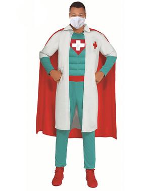 Fato de Super Médico Herói para homem