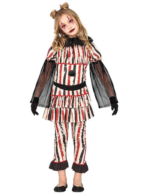 Disfraz de payaso del terror para niña