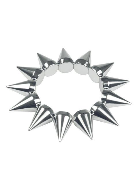 Silbernes Punk Nieten Armband für Erwachsene