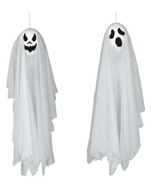 Figurine à suspendre fantôme de 60 cm