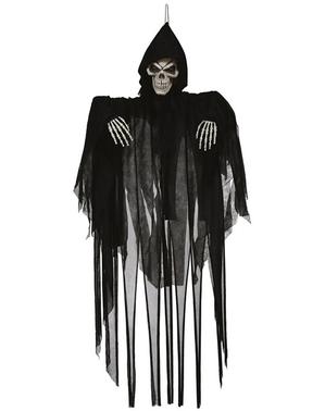 Figura da appendere di scheletro di 120 cm con luce e movimenti