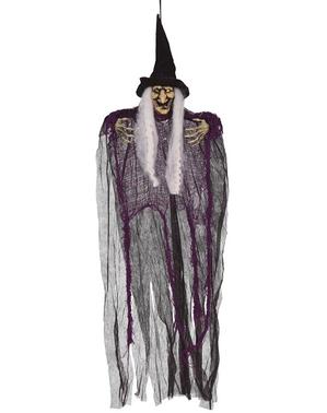 Figurine à suspendre sorcière de 80 cm