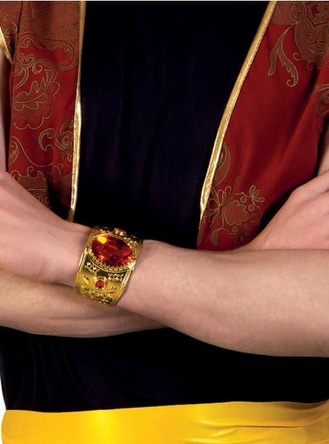 Pulsera persa con diamante rojo para adulto - para tu disfraz