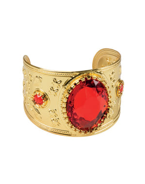 Pulsera árabe con diamante rojo para adulto