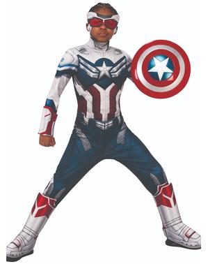 Deluxe Captain America Kostyme til Gutter - The Falcon og The Winter Soldier