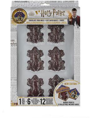 Schokoladenfrosch Gussform mit 12 Karten - Harry Potter