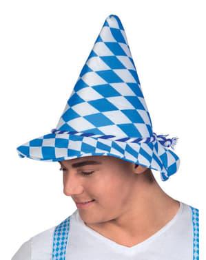 Chapéu de Oktoberfest em forma de cone para adulto