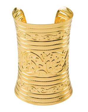 Pulsera dorada árabe para adulto