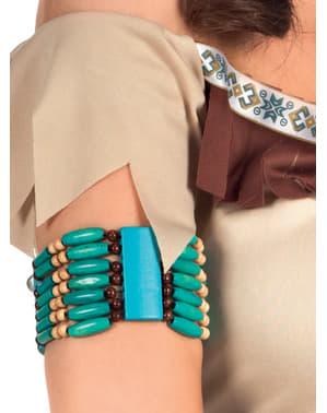 Indianer Armband hellblau für Erwachsene