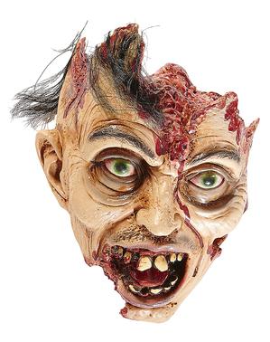 Figura decorativa cabeça de zombie com cabelo
