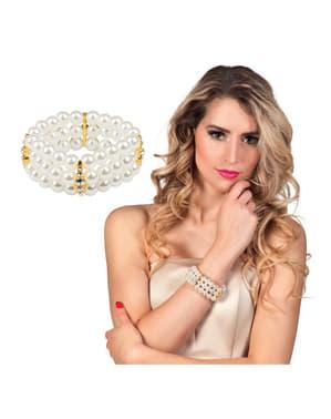 Pulsera de perlas blancas para mujer