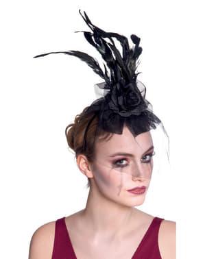 Dámská čelenka černá vdova