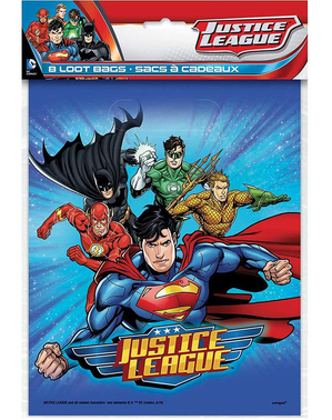 8 Justice League Party Bags