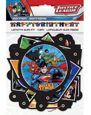 """Happy Birthday"" Justice League -Lippu (2 m)"