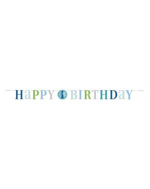 Første bursdag blå girlander - Blue Dots 1st Birthday