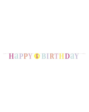 Første bursdag rosa girlander - Pink Dots 1st Birthday