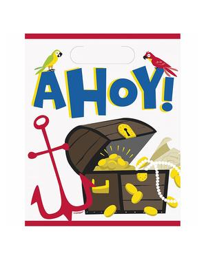 8 bolsas de chucherías de piratas - Ahoy Pirate