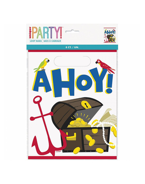 8 Pirate Party Bags - Ahoy Pirate