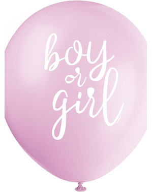 8 Latex Balloons (32 cm) - Boy or Girl