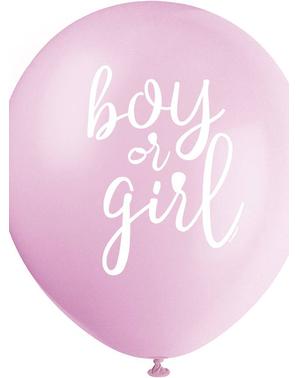 Balon lateksowy x8 (32cm) - Boy or Girl