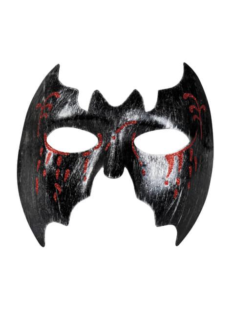 Media máscara de murciélago ensangrentado para adulto