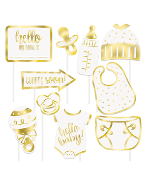 10 Photocall Baby Shower Accessories